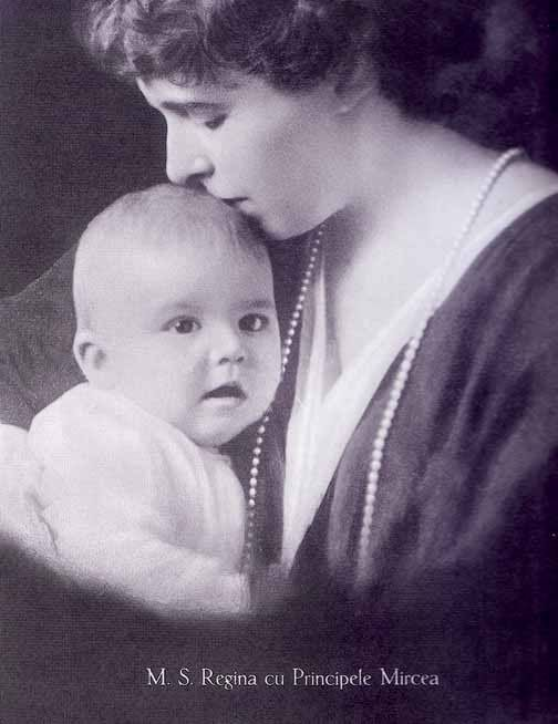 Prince Mircea with his mother, Crown Princess, later Queen, Marie of Romania, who loved him very, very much.