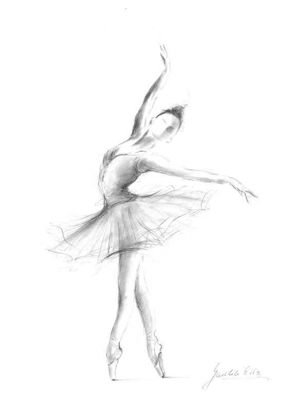 Ballerina Print, Ballerina Sketch, Print Drawing, Ballerina Image, Ballet Dancer, Ballerina Wall Art, Girl Room Decor, Gift for Girl