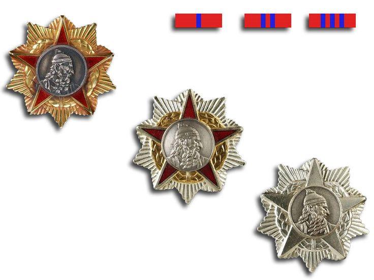 People's Socialist Republic of Albania - Order of Skanderbeg (Urdhëri i Skënderbeut) 1st, 2nd, and 3rd class.