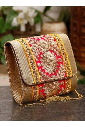 Pink  Yellow Gulabi Clutch - £37