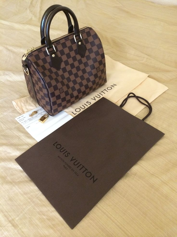 My new project: saving up for this beauty!!! <3 Louis Vuitton Speedy 25 Bandouliere in Damier Ebene