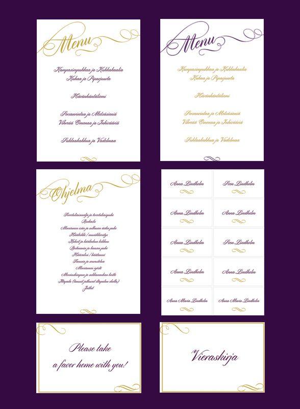 Elegantin tyylin saa häihin myös pienemmällä budjetilla. KÄytä Häät-lehden valmiita tulostuspohjia. Via Häät.fi www.haat.fi/aiheet/suunnittelu/tee-itse-elegantit-haatulosteet