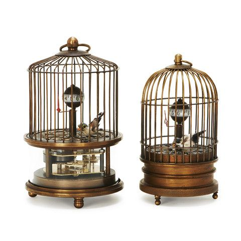 Vintage Moving Birdcage Clock – Laurier Blanc | Unique Home Decor From Around The World