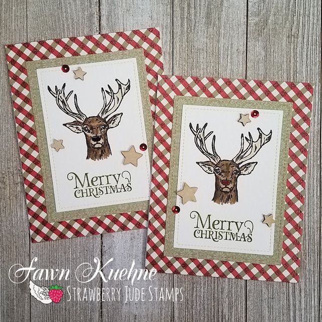 ☆ Fawntastic Creations ☆: Merry Christmas Reindeer  Strawberry Jude Stamps