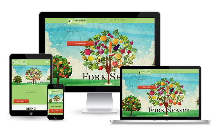 Vegetariánske bistro - www.forkseason.sk  #bistro #webdesign