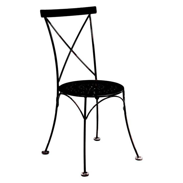 Furniture Designhouse French Cafe Bistro Metal X-Back Dining Chair - Set of 2 - 5207S-BK