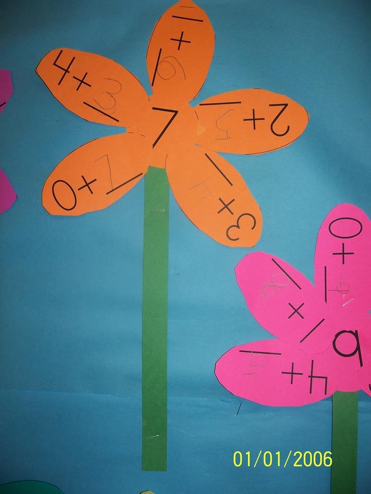 Primary Math Center- Mrs. Egley's Kindergarten: Flower Power