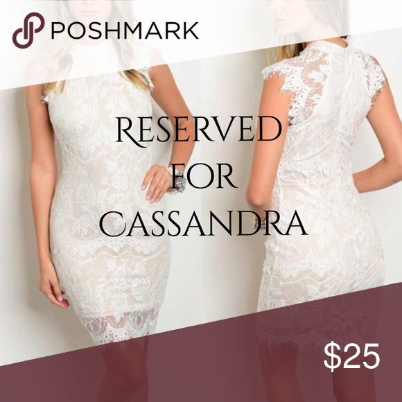 💌• Cassandra ✨Gorgeous White & Nude Lace Bodycon✨Special Discount😘 Dresses Mini