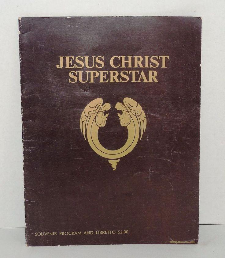 Vintage Jesus Christ Superstar Souvenir Program & Libretto/ Broadway Production