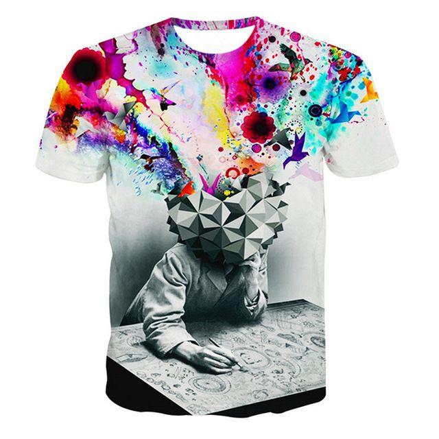 2016 hip hop ropa nueva 3d funny t shirt de impresión rihanna/einstein/monroe flor galaxy emoji camiseta de verano traje de estilo tee top