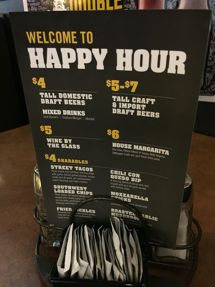 The Buffalo Wild Wings Happy hour runs throughout the majority of the week, being valid from Monday to Friday. Now most happy hours don't last an hour, we all know this, but you will be very shocked at just how long the buffalo wild wings Happy Hour last for, it's that impressive.