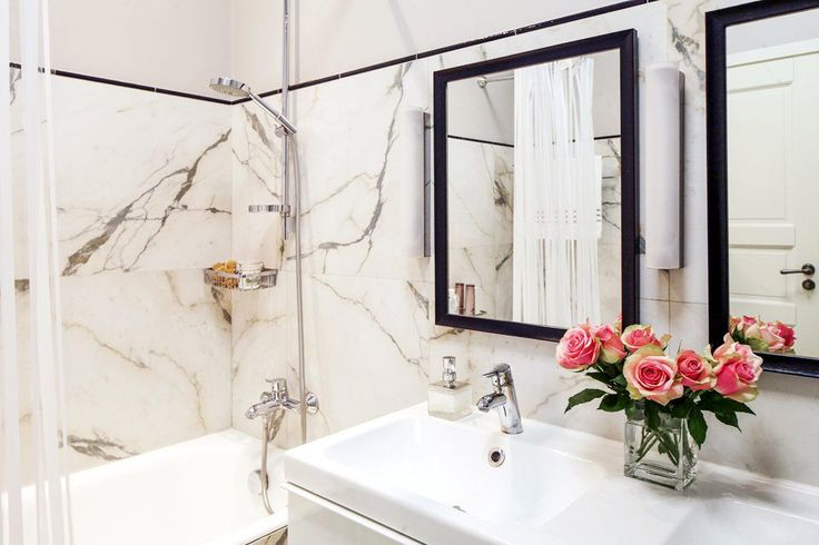ванная комната в интерьере 3-комнатной квартиры