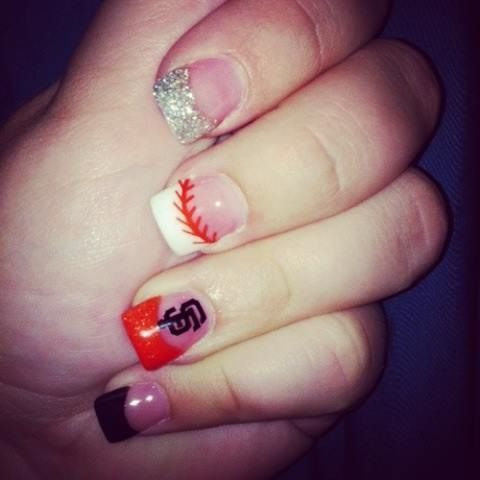 12 best nails images on Pinterest | Sf giants nails, Baseball nails ...