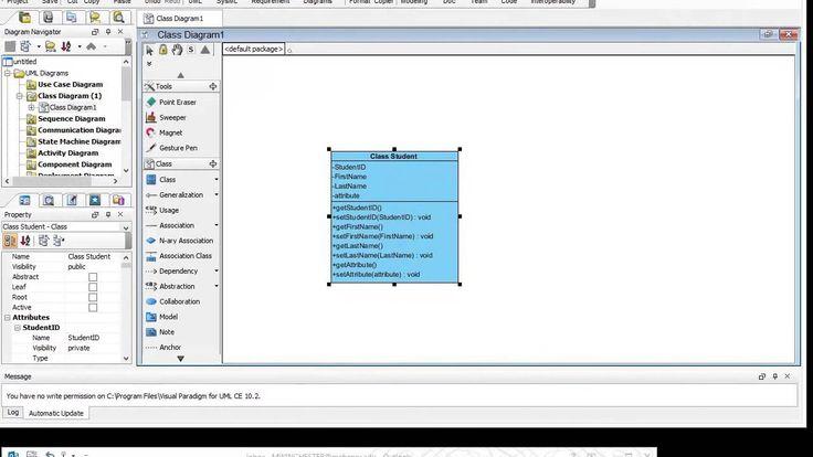 creating class with visual paradigm wwwvisual paradigmcom - Visual Diagram Software