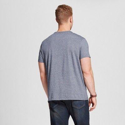 Men's Big & Tall V-Neck Jersey T-Shirt - Merona Navy (Blue) 3XB Tall, Size: 3X Big Tall