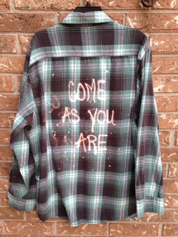 Great button down flannel plaid shirt has been hand ...