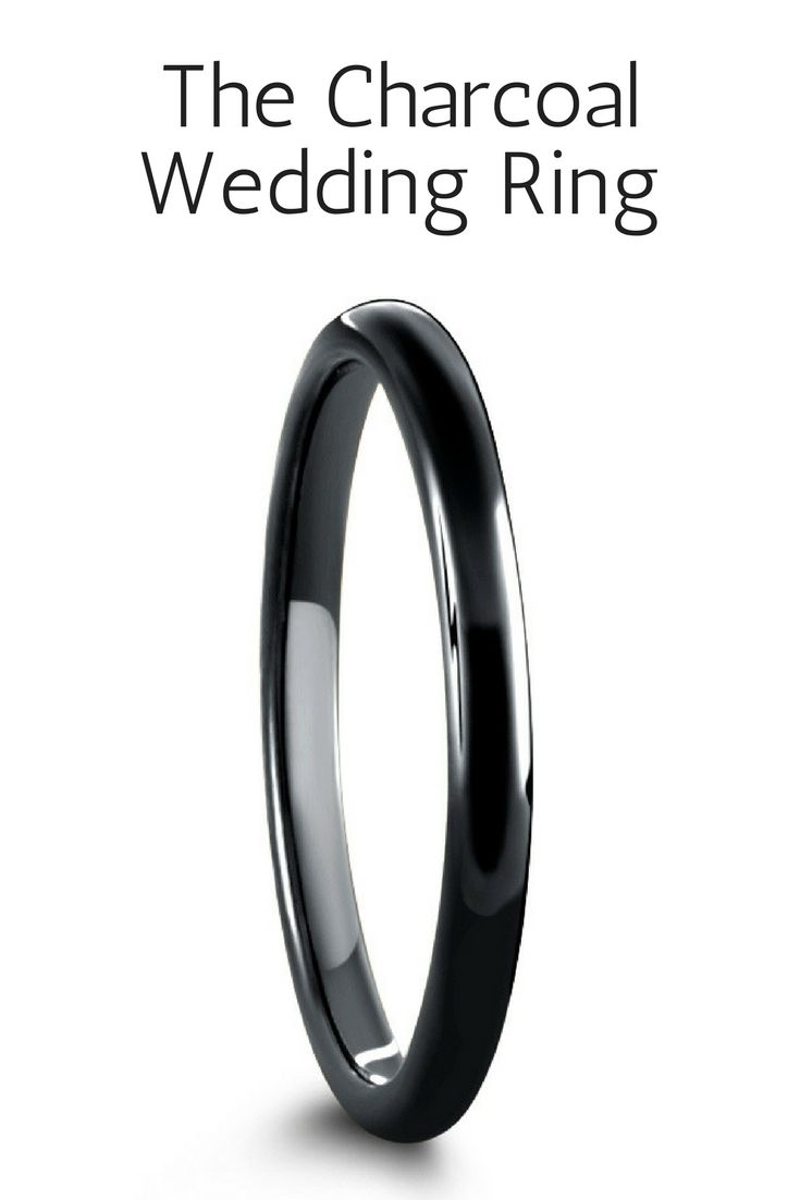 black tungsten rings fish hook wedding ring 2mm Black Tungsten Carbide Wedding Ring