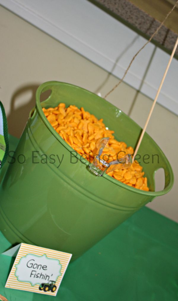 John Deere Baby Shower. These little buckets would be cute little bowls to put food in