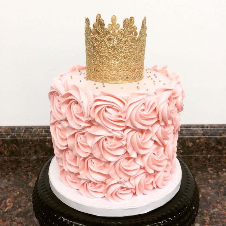 Birthday Cake Images Gold : Pink and gold princess first birthday smash cake Cami s ...