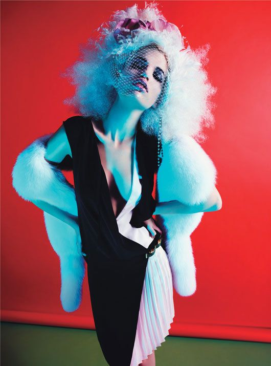 The Night is Young Photo by Mario Sorrenti, styled by Edward Enninful; W Magazine March 2012.