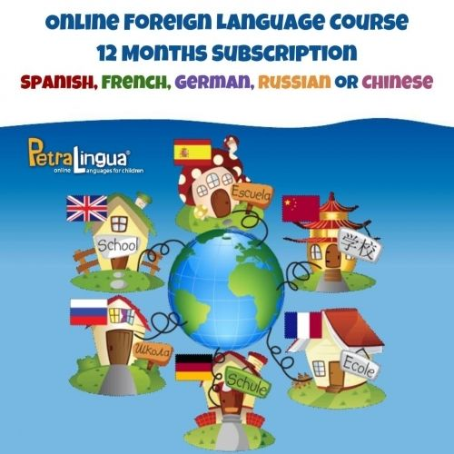 Use this incredible opportunity to include foreign language into your next year curriculum! Choose from Spanish, French, German, Chinese, Russian or ESL English Videos, songs and games help learners become bilingual FAST Take language lessons with you everywhere- on your Windows or Mac computer, iPad, iPhone, Android, tablets and phones