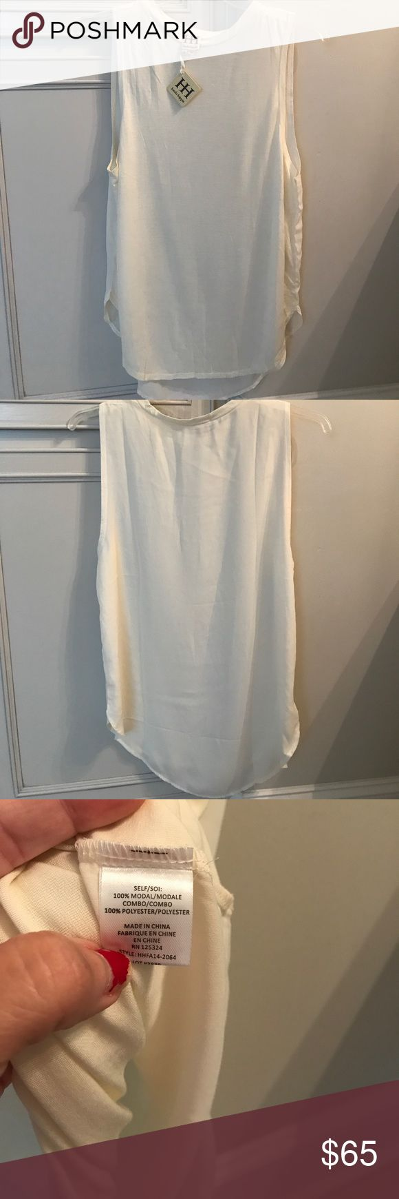Brand new haute hippie long tank top Brand new haute hippie long tank top with tags. Never worn. (Dressy top) Haute Hippie Tops Tank Tops