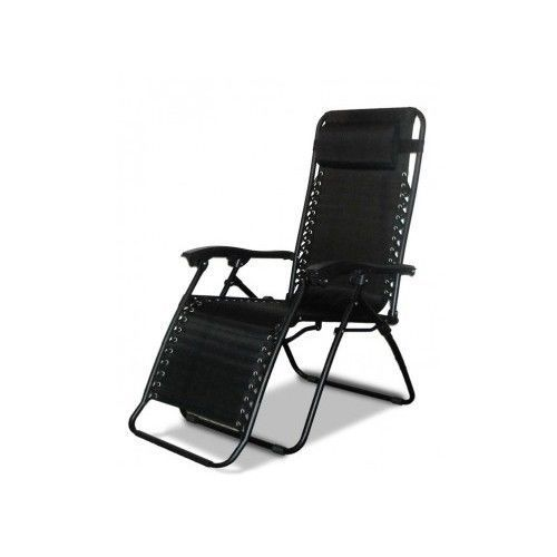 Zero gravity chair black outdoor lounge recliner chaise for Chaise zero gravite