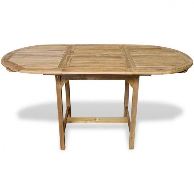 Outdoor Dining Table Wood Teak Extendable Large Waterproof Garden Furniture New