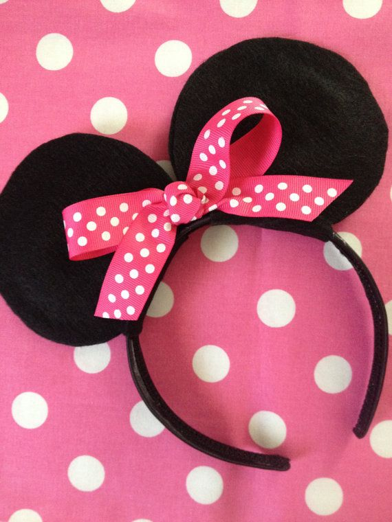 Minnie Mouse Ears  Birthday Party Favors  by LalaBirdBoutique, $8.50 - @Renee Peterson Golz, these are perfect!