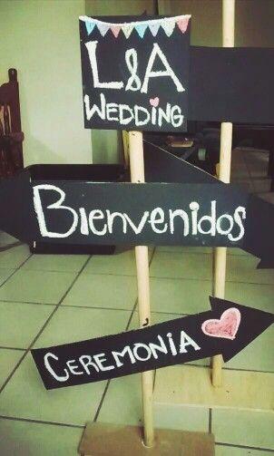 Letreros para mi boda