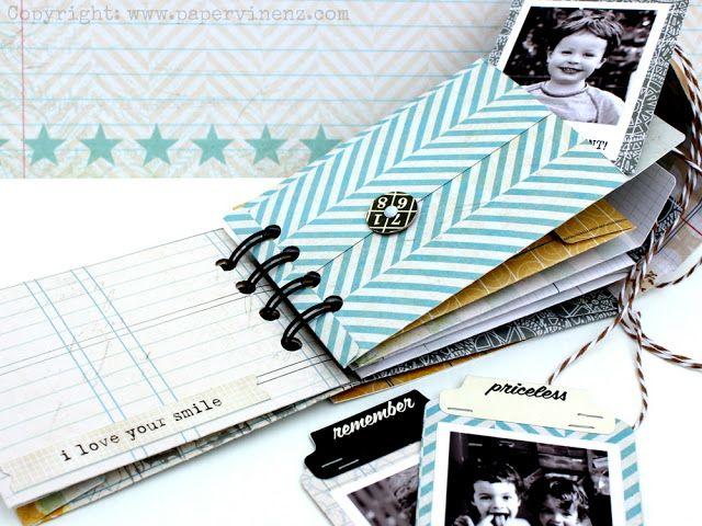PaperVine: Pink Paislee Sobre Mini Album