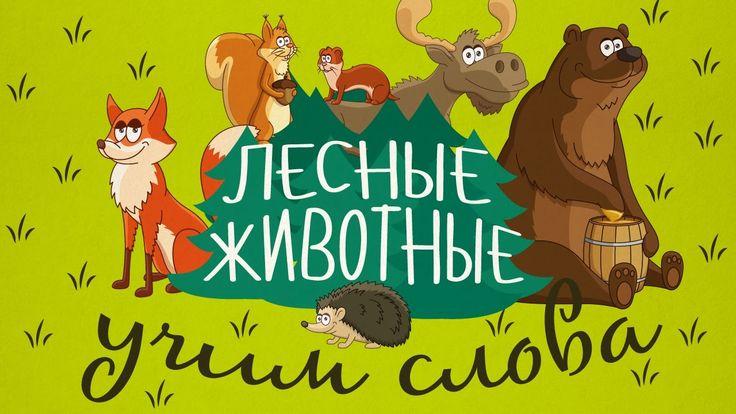 Животные для детей - Лесные животные || Учим животных - развивающие муль...