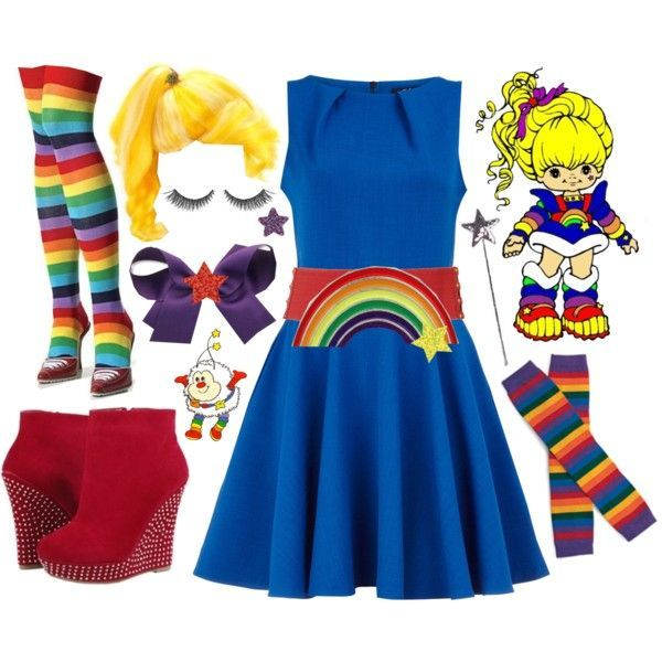 """Rainbow Brite"" by azurafae on Polyvore"
