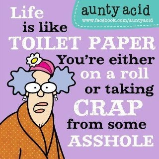 Oh Aunty Acid! You're such a card!
