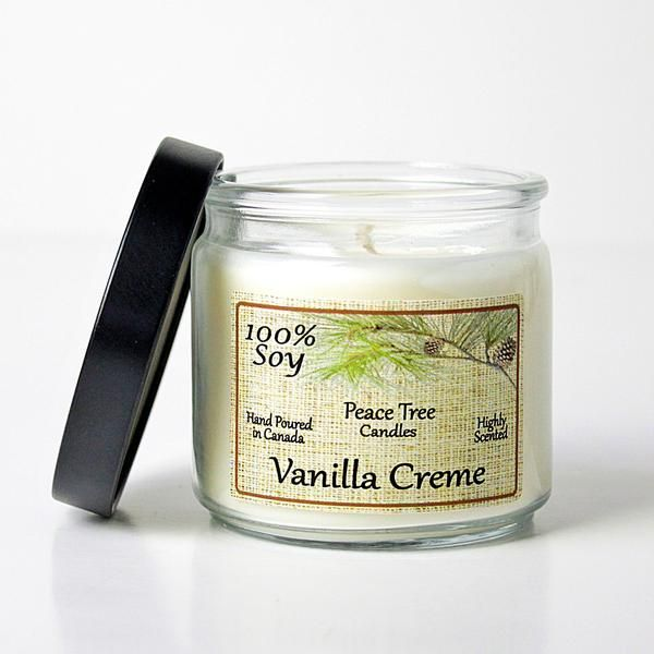 Vanilla Creme Peace Tree Soy Candle