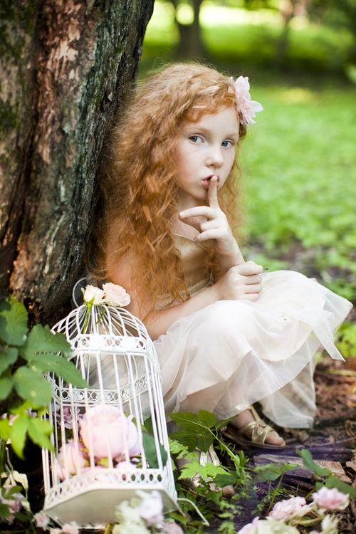 Garden Fairy Little Girl Watches Over Her Garden Fairy