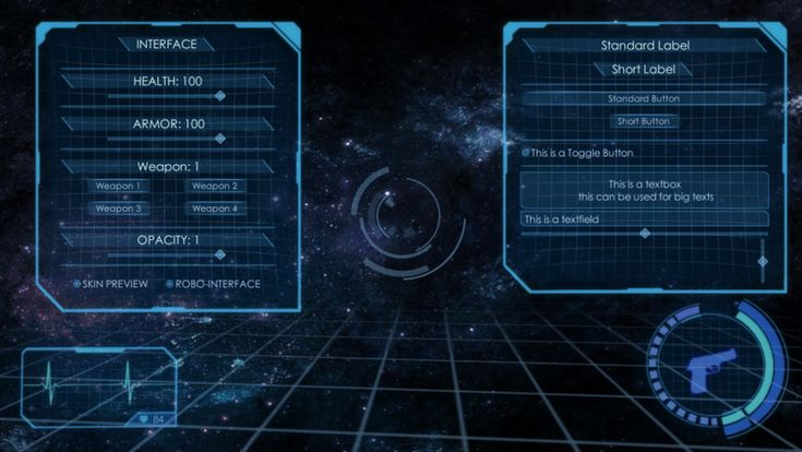 Asset Store 3d Holographic Interface Gui Skin Sci Fi