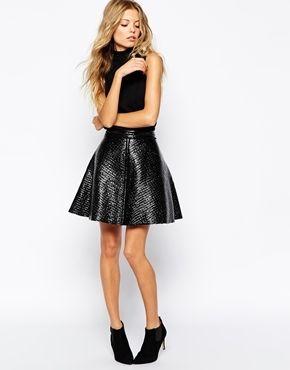 Boss Orange Belea Skirt in Coated Fabric - Black