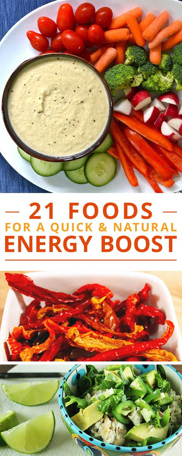 21 Foods for a Quick (and NATURAL) Energy Boost!  #energyboost #healthyrecipes