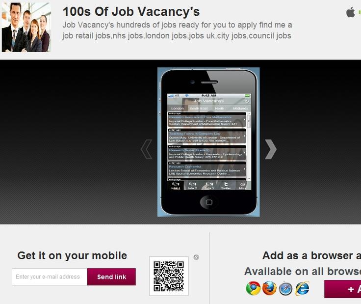 100s Of Job Vacancy's  Job Vacancy's hundreds of jobs ready for you to apply find me a job retail jobs,nhs jobs,london jobs,jobs uk,city jobs,council jobs
