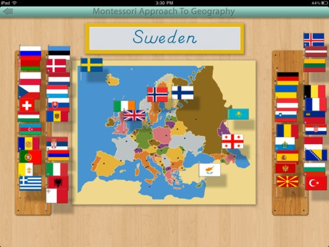 Learn to identify all the country flags of Europe with this app that beautifully complements the materials in the Montessori classroom!