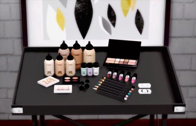 Yayasimblr MAC Makeup Set (s3 to s4) at Dream Team Sims via Sims 4 Updates