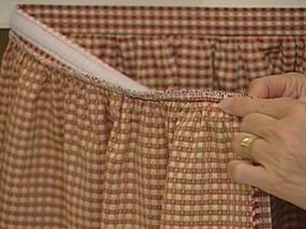 HGTV.com gives simple instructions on how to sew a fabric skirt to hide the storage area under a sink.
