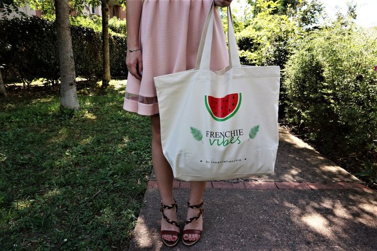 """Tote Bag CABAS 100% Coton BIO """"Frenchie Vibes"""" - Collection capsule"""