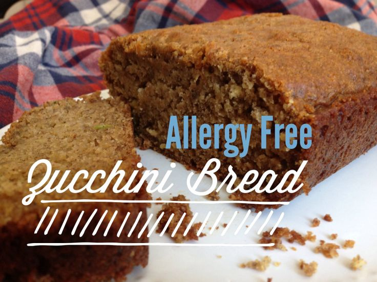 Allergy Free Zucchini Bread Vegan, dairy free, soy free, egg free, gluten free.