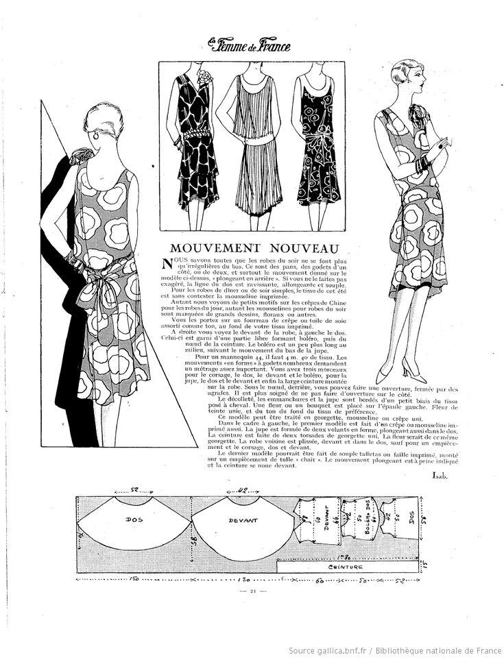 Robe fluide (La Femme de France 03/06/1928)                                                                                                                                                     Plus