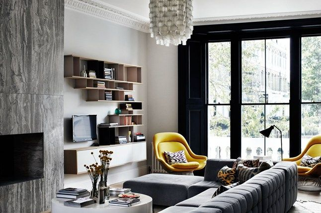 Discover interior design inspiration on HOUSE - design, food and travel by House & Garden. Suzy Hoodless creates a glamorous effect, using mid-century pieces and a dark palette.
