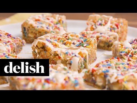 Birthday Cake Blondies | Delish + McCormick - YouTube