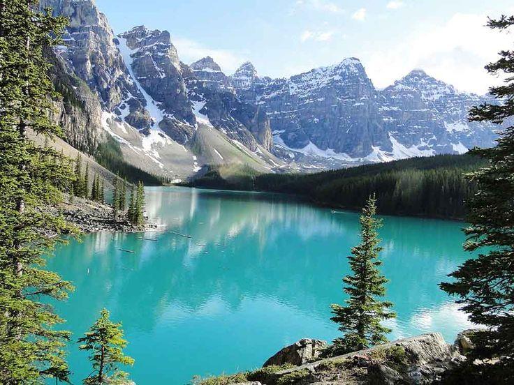 Moraine Lake Banff National Park Canada | ... de Alberta, Canadá, o lago Moraine possui apenas 0,5 km² de área