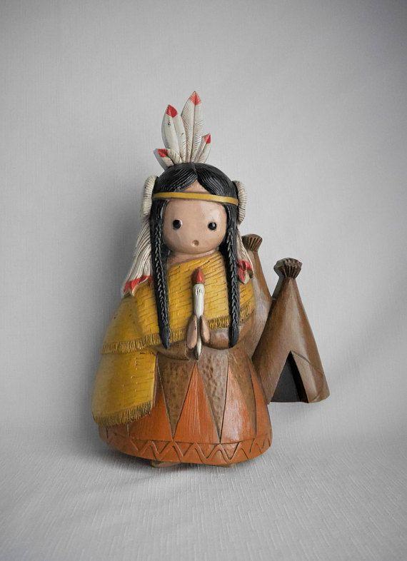 Vintage Native American Maiden Southwestern Wall Decoration: